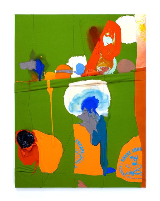 Molly Zuckerman-Hartung, 'Blast in Turkey', 2016, Painting, Enamel, latex, and flashe on sewn nylon and cotton, LAXART