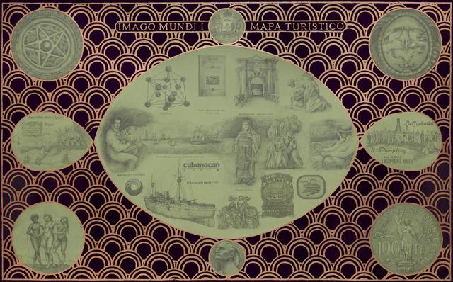, 'Imago Mundi I. Mapa turístico,' 2014, 80M2 Livia Benavides