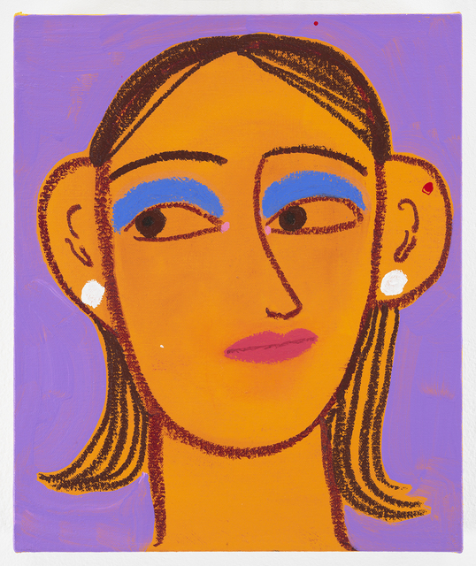 , 'portrait of a girl with cobalt eyeshadow (1),' 2018, James Cohan