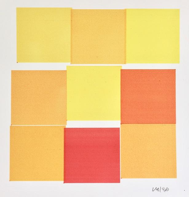 Vera Molnar, '9 Carrés', 1986, DAM Gallery