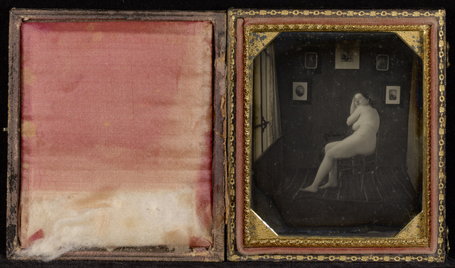 , 'Nude Woman in Photographer's Studio,' ca. 1850, J. Paul Getty Museum