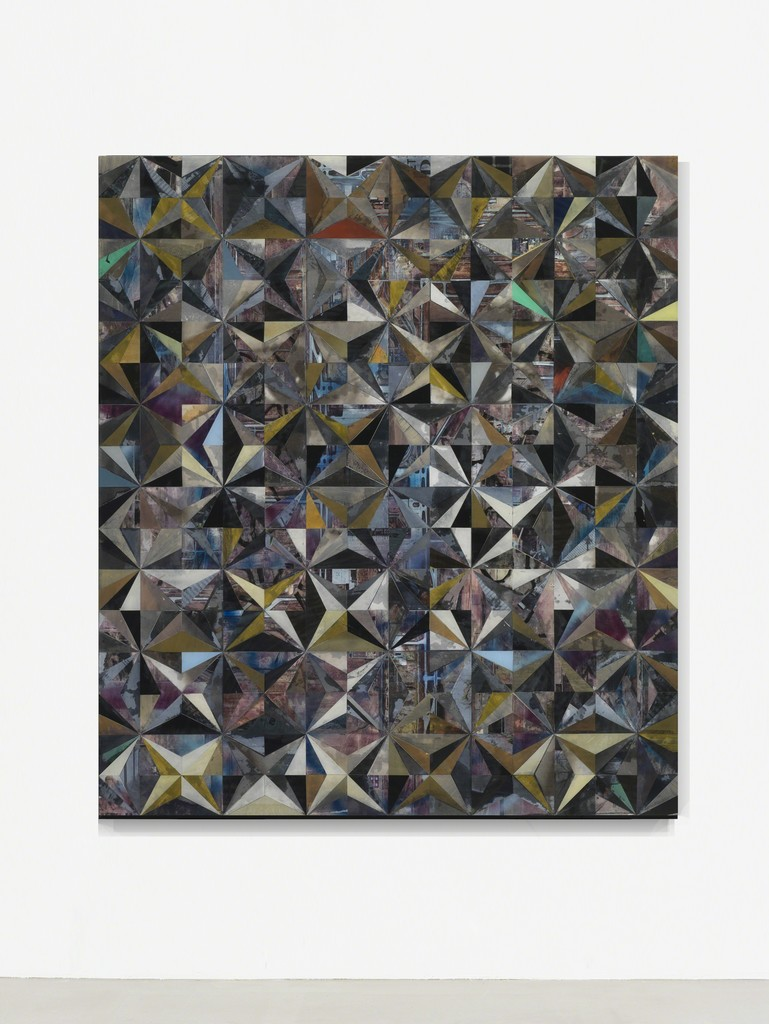 installation view Matthias Bitzer, Untitled, 2016, paper and epoxy on board, 160 x 140 x 8 cm