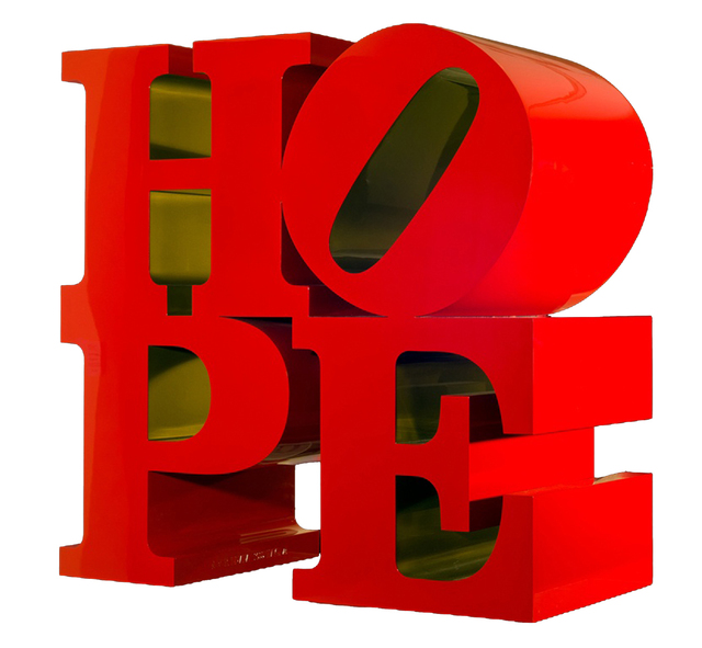 , 'Robert Indiana HOPE red-gold,' 2009, Contini Art Gallery