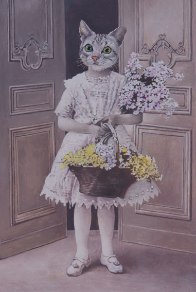 , 'Miss Kitty Was a Flower Child,' 2016, Wally Workman Gallery