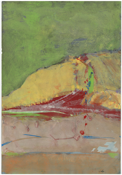 Saul Leiter, 'Untitled', date unknown, Painting, Gouache, casein and watercolor on paper, GALLERY FIFTY ONE