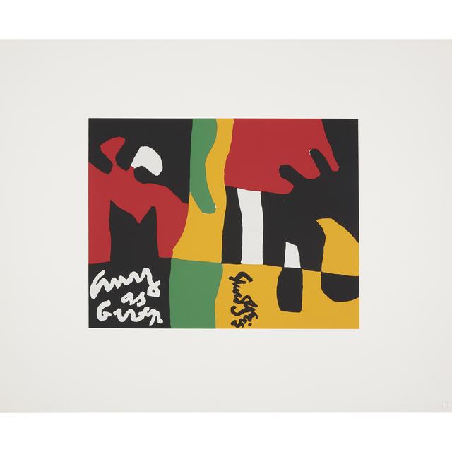 Stuart Davis, 'Untitled from X + X (Ten Works by Ten Painters)', 1964, Print, Color screenprint on wove paper, Freeman's