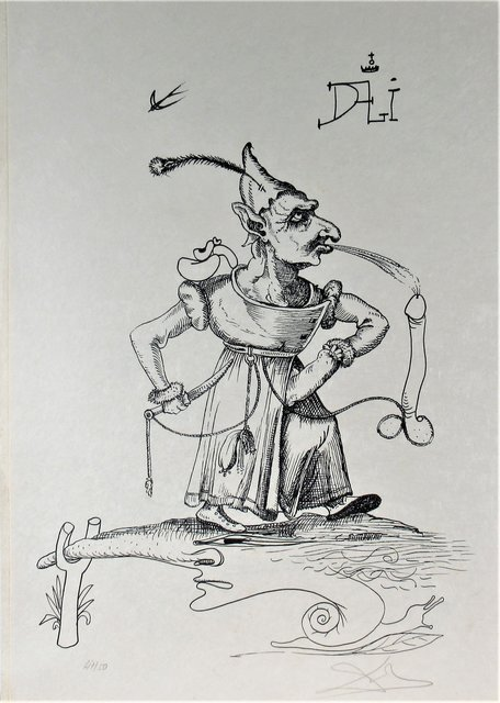 Salvador Dalí, 'Les Songes Drolatiques de Pantagruel', 1973, Print, Original lithograph, Joseph Grossman Fine Art Gallery