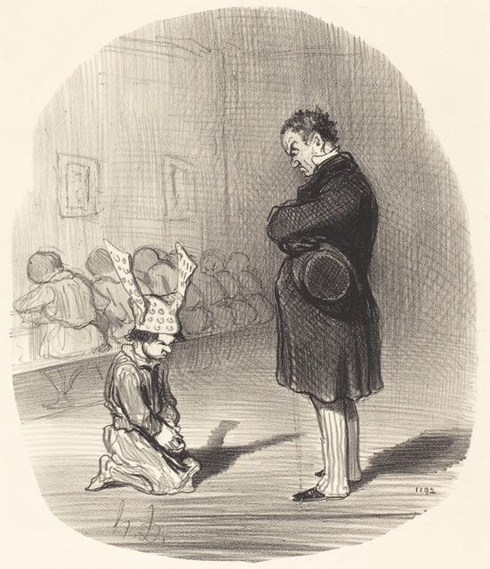 Honoré Daumier, 'Les Suites d'une insurrection', 1849, National Gallery of Art, Washington, D.C.
