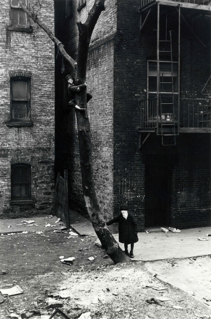 Helen Levitt, 'New York (masked kids playing at tree)', 1942, Laurence Miller Gallery