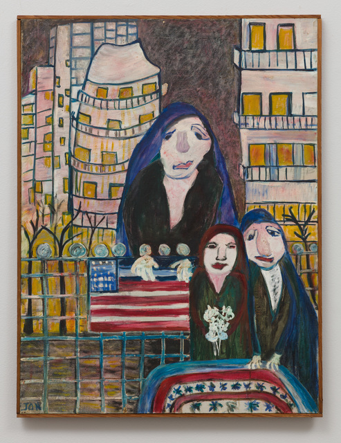 , 'Untitled (Three Figures with Flag, Buildings) ,' ca. 1975, The Good Luck Gallery