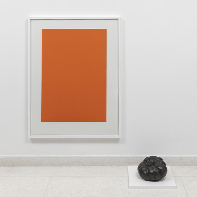 , 'objeto acrômico (abóbora),' 2018, Carbono Galeria