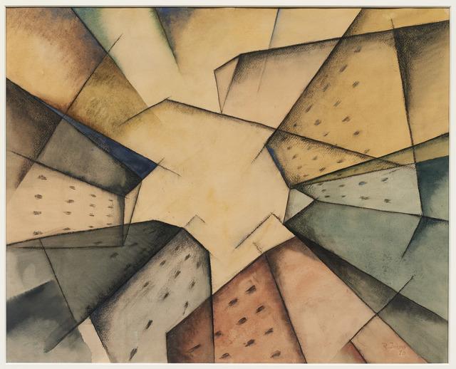 Rudolf Jahns, 'Häuser am Platz', 1920, DICKINSON