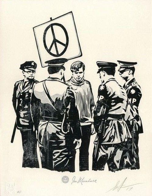 Shepard Fairey, 'Peaceful protestor', 2018, AYNAC Gallery