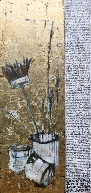 , 'EX VOTO POUR UN PETIT ATELIER (Ex-voto for a little studio),' 2017, LouiSimone Guirandou Gallery
