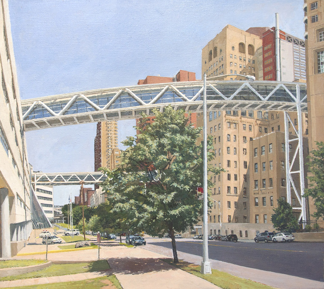 , 'Columbia Presbyterian: Two Pedestrian Bridges Crossing Riverside Drive,' 2013, Betty Cuningham