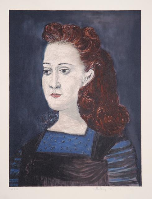 Pablo Picasso, 'Femme a la Collerette Bleue, 1941', 1979-1982, Print, Lithograph on Arches Paper, RoGallery