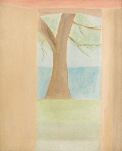 Craigie Aitchison CBE RSA RA, 'Tree at Oppedette', 1973, Painting, Oil on canvas, Piano Nobile