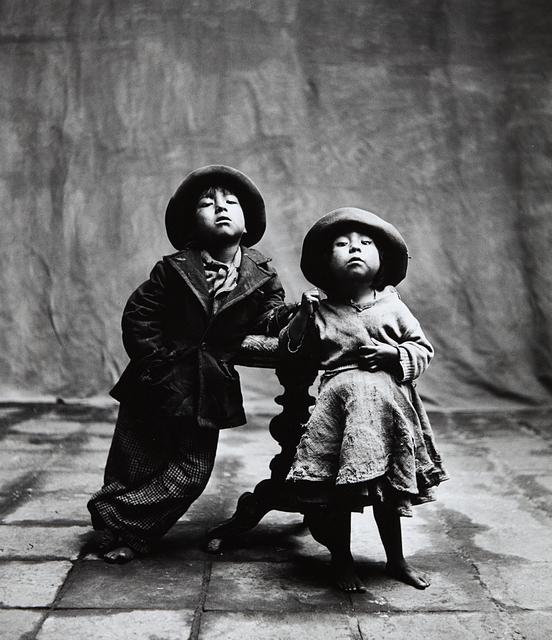 Irving Penn, 'Cuzco Children, Peru, December', 1948, Photography, Gelatin silver print, Phillips