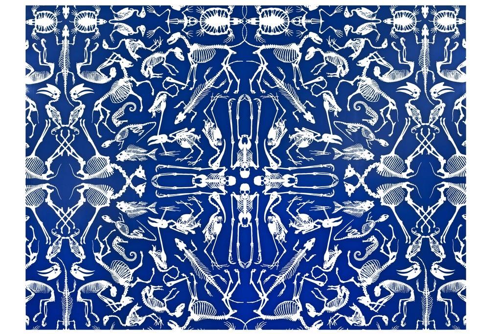 Skeleton - The new Domestic Landscape collection, graphic design: Studio Job, printer: Rasch, publisher : Domestic, digital printing on intissé, digital printing, 2008 © Les Arts Décoratifs, Paris, photo : Jean Tholance