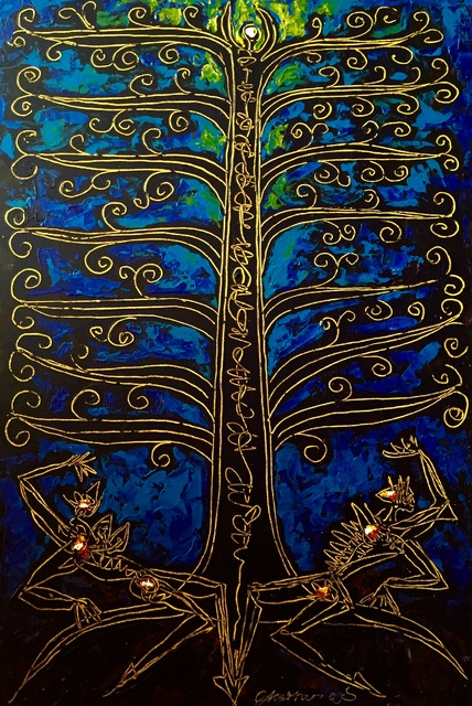 , 'Tree of Life Blue,' , Ashok Jain Gallery