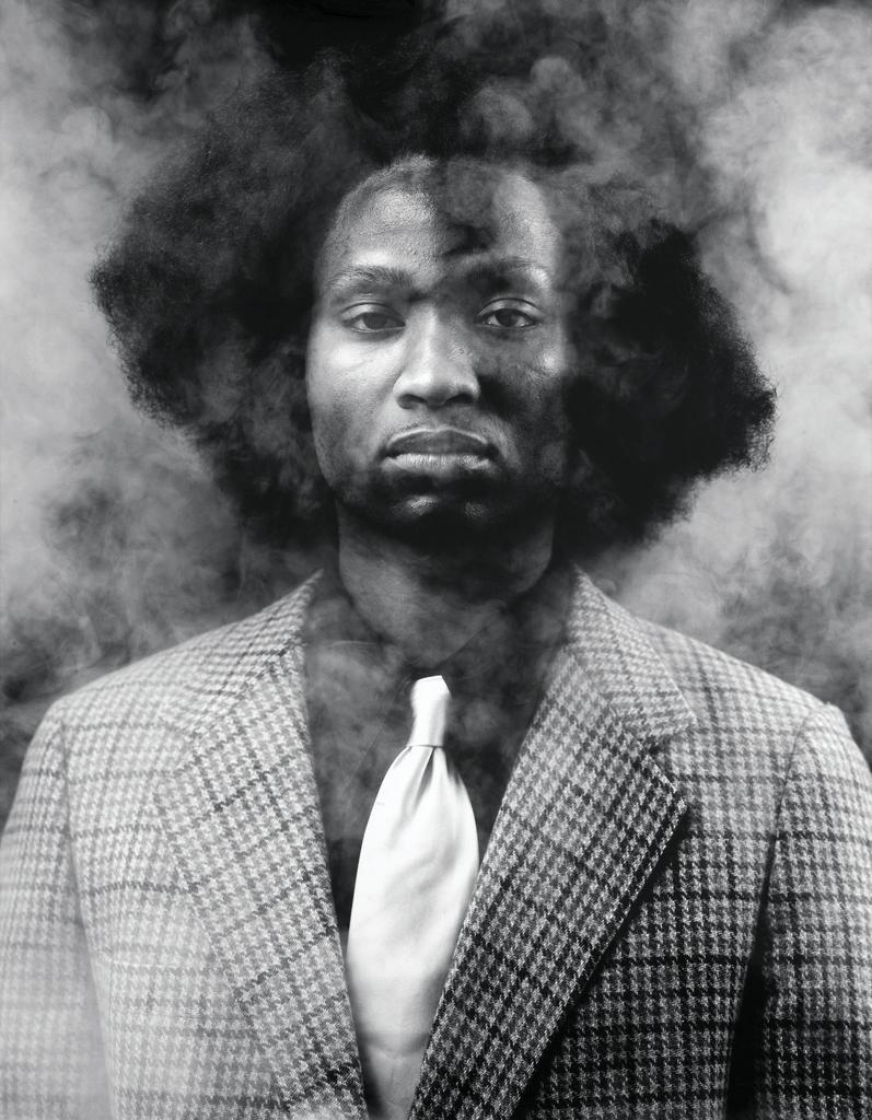 Rashid Johnson, The New Negro Escapist Social and Athletic Club (Thurgood), 2008 Lambda print, Ed. 2/5, Courtesy of Rubell Family Collection, Miami
