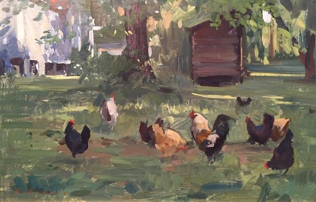 , 'Chickens,' 2018, Grenning Gallery