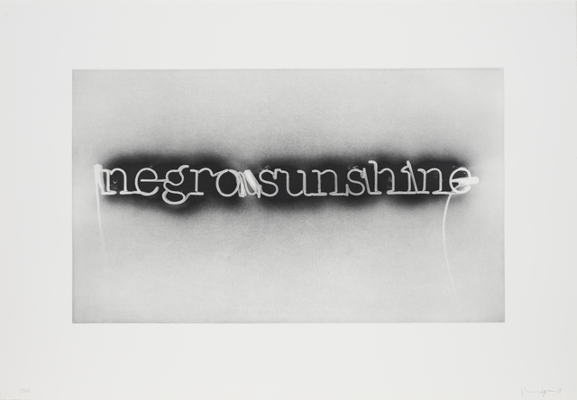 Glenn Ligon, 'Warm Broad Glow (reversed)', 2008, Print, Photogravure etching, Luhring Augustine