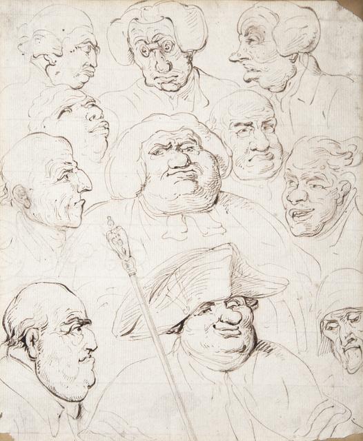 , 'Study of Portraits,' ca. 1777-1827, Chris Beetles Gallery