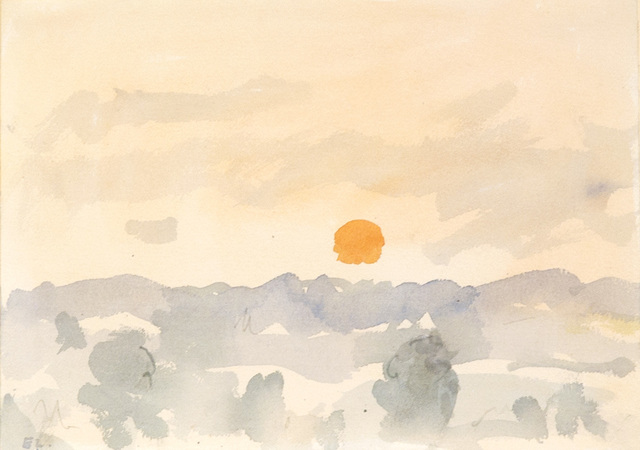 , 'Morning, Orange Sun,' ca. 1995, C. Grimaldis Gallery