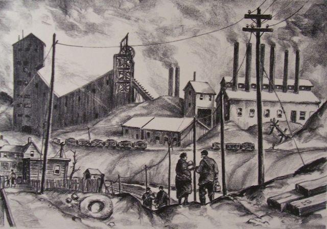 , 'Coal-town Panorama,' 1936, Susan Teller Gallery