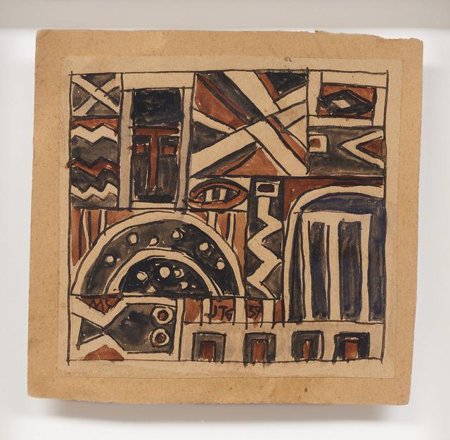 , 'Constructivo con mascara y pez,' 1939, DICKINSON