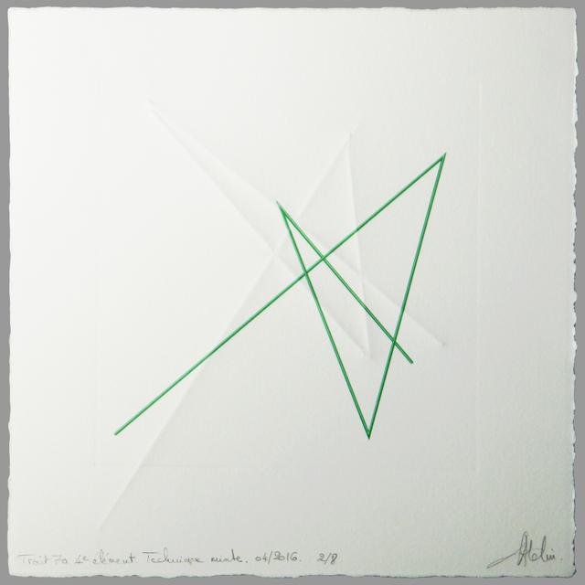 , 'Trait 70 4,' 2016, Galerie Marie-Robin