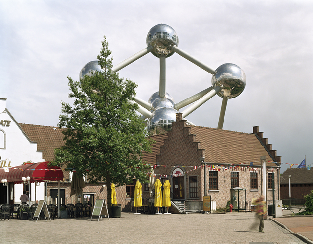 ", 'Brussels 1958 World's Fair, ""A World View: A New Humanism,"" Atomium  ,' , Front Room Gallery"