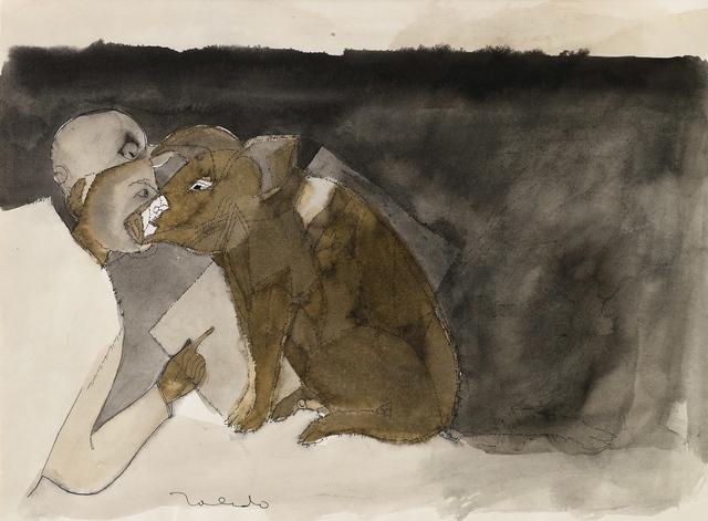, 'Niño con Cerdo (Boy with Pig),' ca. 1977, Latin American Masters
