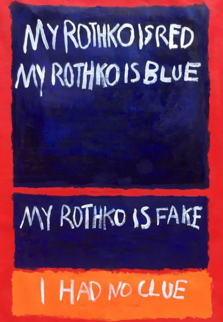 , 'Fake Rothko and Poetry ,' 2017, Imitate Modern