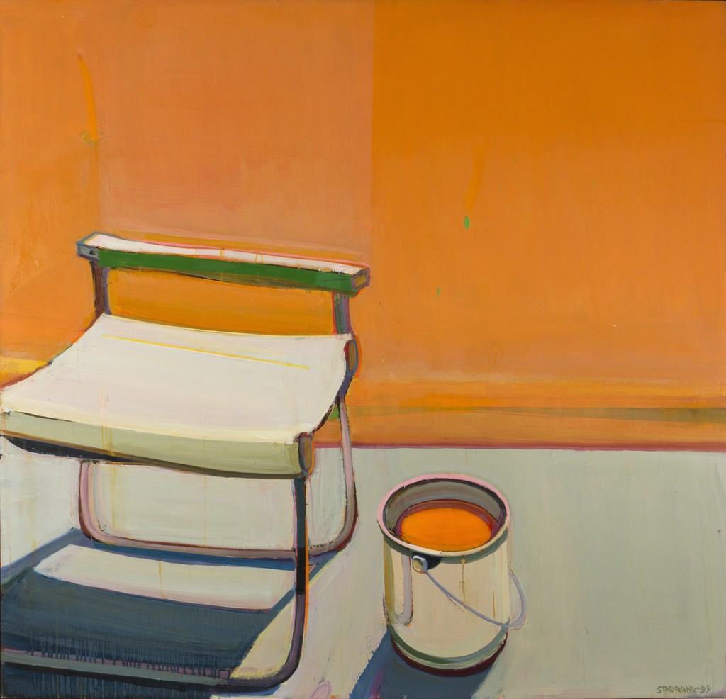 uncomfortable chair. Raimonds Staprans, \u0027Still Life With The Uncomfortable Folding Chair\u0027, 1999, San Chair N
