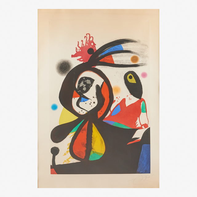 Joan Miró, 'L'Aigrette Rouge', 1976, Rago