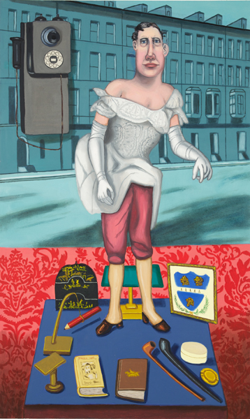 Hannah Barrett, 'Tales from the House of Gibson: Mr. Quackenboss', 2010, Painting, Oil on linen, Childs Gallery