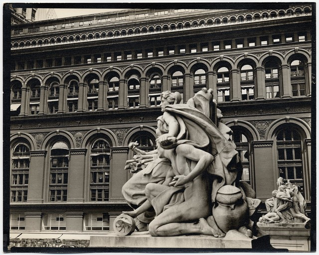 , 'Custom House Statue and New York Produce Exchange.,' 1936, The Old Print Shop, Inc.