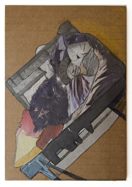 , 'Man_Bed (Cardboard Portraits Series),' 2015, Fanny Allié + Ketta Ioannidou