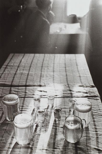 René Burri, 'Beer Glasses, Czechoslovakia', 1955, Photography, Gelatin silver print., Phillips