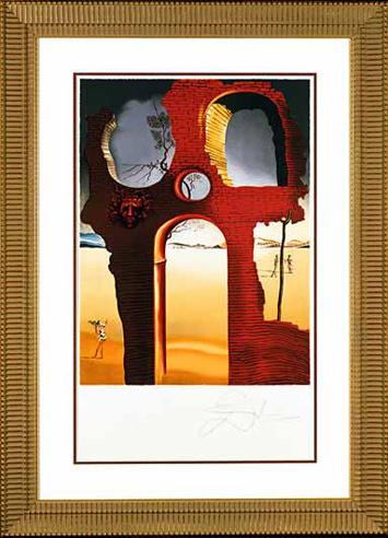 """, '""""Invisible Face"""" Hand Signed Salvador Dali Lithograph,' 1941-1957, Elena Bulatova Fine Art"""