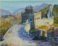 , 'Rosemarie Magnani and Bruce Lee c. 1972 on the Great Wall of China -- Everybody now gets China's the next future!,' 2005, James Barron Art