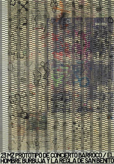 , 'Prototipo de concierto barroco (el hombre burbuja y la regla de san benito),' 2008, Maisterravalbuena