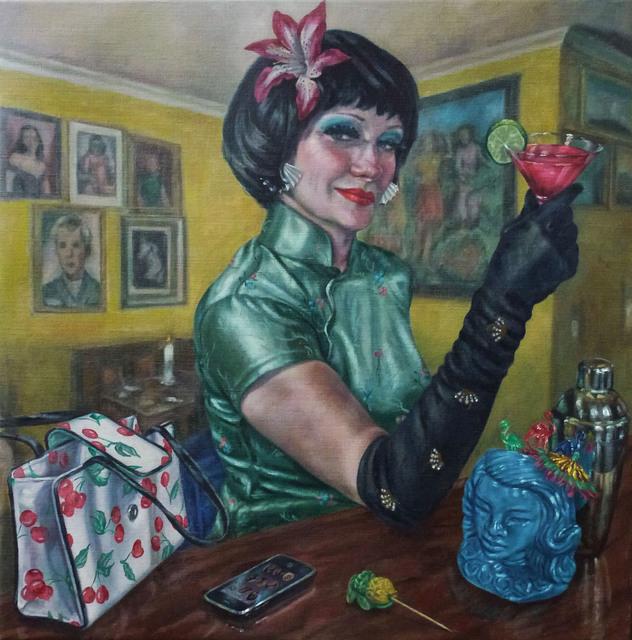 Roxana Halls, 'Cosmopolitan', 2015, Painting, Oil on Linen, Reuben Colley Fine Art