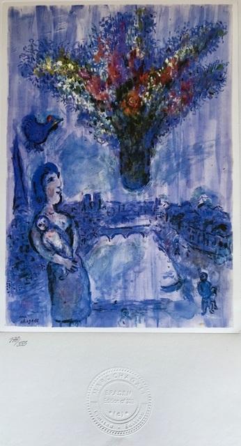 Marc Chagall, 'Vase dans le ciel', 1985, ByNewArt