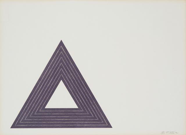 Frank Stella, 'Purple Series', 1972, Los Angeles Modern Auctions (LAMA)