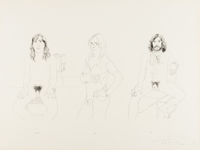David Hockney, 'For the Oz Obscenity Fund', 1971, Forum Auctions