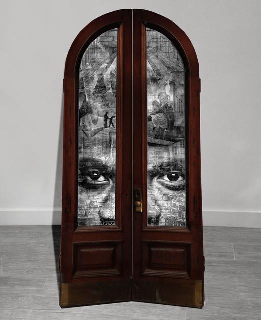 Shai Kremer, 'GENTRIFICATION: Door #2: Bedford-Stuyvesant and Bushwick, Racial tensions. 2016 ', 2016, Art Bond NY