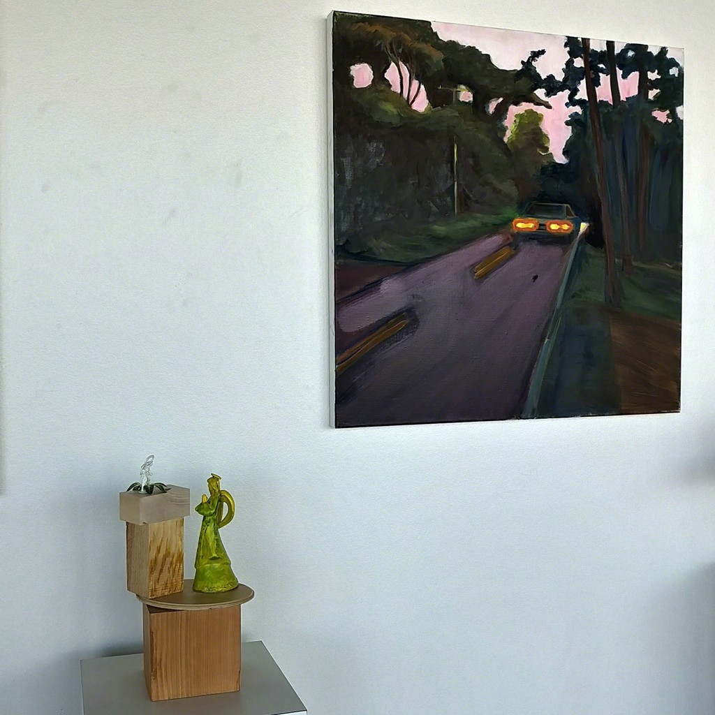 Sculpture by Rita Bard, painting by Maureen O'Leary
